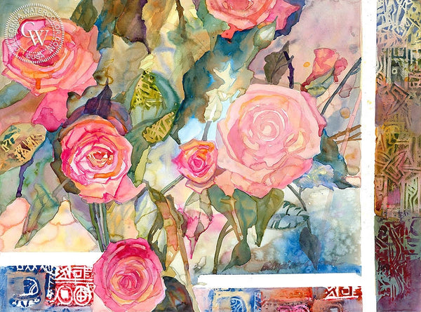 Roses for Joseph, California art by Betsy Dillard Stroud. HD giclee art prints for sale at CaliforniaWatercolor.com - original California paintings, & premium giclee prints for sale