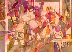 Schehrezade's Secret Garden Series No. 15, California art by Betsy Dillard Stroud. HD giclee art prints for sale at CaliforniaWatercolor.com - original California paintings, & premium giclee prints for sale