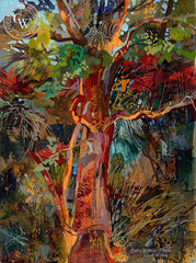Tree of Darby, California art by Betsy Dillard Stroud. HD giclee art prints for sale at CaliforniaWatercolor.com - original California paintings, & premium giclee prints for sale