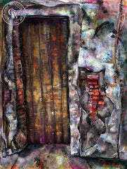 Doorway, California art by Burr Singer. HD giclee art prints for sale at CaliforniaWatercolor.com - original California paintings, & premium giclee prints for sale