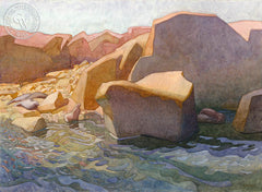 Fish Rock Retreat, California art by Carolyn Lord. HD giclee art prints for sale at CaliforniaWatercolor.com - original California paintings, & premium giclee prints for sale