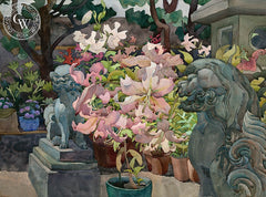 Barking Lilies, 1983, California art by Carolyn Lord. HD giclee art prints for sale at CaliforniaWatercolor.com - original California paintings, & premium giclee prints for sale