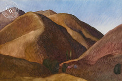 Collier Canyon Ravine, 1991, California art by Carolyn Lord. HD giclee art prints for sale at CaliforniaWatercolor.com - original California paintings, & premium giclee prints for sale