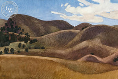 Expectant Hills, 1991, California art by Carolyn Lord. HD giclee art prints for sale at CaliforniaWatercolor.com - original California paintings, & premium giclee prints for sale