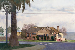 Final Sunset for Dutro's, 2008, California art by Carolyn Lord. HD giclee art prints for sale at CaliforniaWatercolor.com - original California paintings, & premium giclee prints for sale