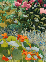 Garden Corner, California art by Carolyn Lord. HD giclee art prints for sale at CaliforniaWatercolor.com - original California paintings, & premium giclee prints for sale