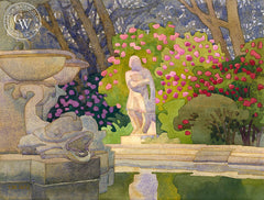 Greeting the Morning, Huntington Gardens, California art by Carolyn Lord. HD giclee art prints for sale at CaliforniaWatercolor.com - original California paintings, & premium giclee prints for sale