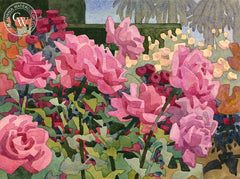 L Street Roses, California art by Carolyn Lord. HD giclee art prints for sale at CaliforniaWatercolor.com - original California paintings, & premium giclee prints for sale