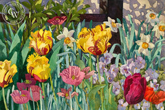Mary, How Does Your Garden Grow, 1989, California art by Carolyn Lord. HD giclee art prints for sale at CaliforniaWatercolor.com - original California paintings, & premium giclee prints for sale