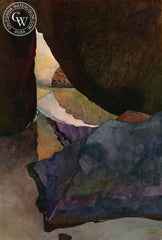 Secret Pool, 1989, California art by Carolyn Lord. HD giclee art prints for sale at CaliforniaWatercolor.com - original California paintings, & premium giclee prints for sale