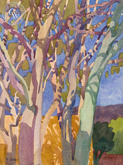 Slo Eucalyptus, 2011, a California watercolor painting by Carolyn Lord. HD giclee art prints for sale at CaliforniaWatercolor.com - original California paintings, & premium giclee prints for sale