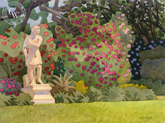 Waiting for Persephone, Huntington Gardens, California art by Carolyn Lord. HD giclee art prints for sale at CaliforniaWatercolor.com - original California paintings, & premium giclee prints for sale