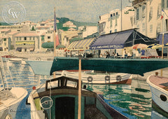 Canadian Harbor, Quebec, 1927, California art by Charles Payzant. HD giclee art prints for sale at CaliforniaWatercolor.com - original California paintings, & premium giclee prints for sale