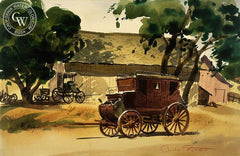Stagecoach, California art by Charles Payzant. HD giclee art prints for sale at CaliforniaWatercolor.com - original California paintings, & premium giclee prints for sale