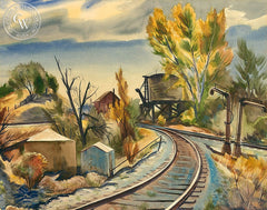 Acton, California, 1960, California art by Charles Surendorf. HD giclee art prints for sale at CaliforniaWatercolor.com - original California paintings, & premium giclee prints for sale