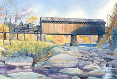Coming Into Hillsboro, California art by Chris Oldham. HD giclee art prints for sale at CaliforniaWatercolor.com - original California paintings, & premium giclee prints for sale