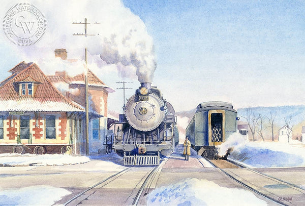 Meet at Ridgeway, California art by Chris Oldham. HD giclee art prints for sale at CaliforniaWatercolor.com - original California paintings, & premium giclee prints for sale