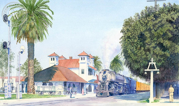 Riverside, California art by Chris Oldham. HD giclee art prints for sale at CaliforniaWatercolor.com - original California paintings, & premium giclee prints for sale