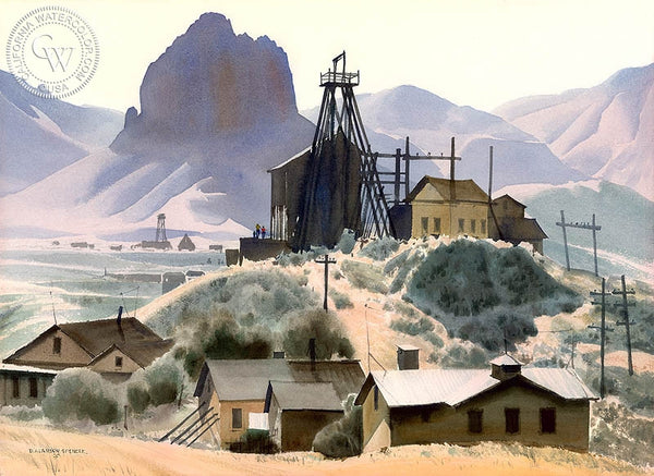 Oatman, Arizona, California art by D. Alanson Spencer. HD giclee art prints for sale at CaliforniaWatercolor.com - original California paintings, & premium giclee prints for sale