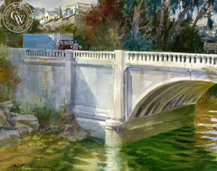 Aliso Creek, Laguna Beach, California art by David Solomon. HD giclee art prints for sale at CaliforniaWatercolor.com - original California paintings, & premium giclee prints for sale