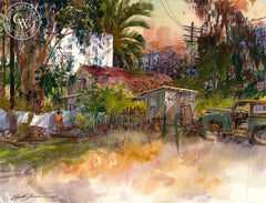 East L.A., California art by David Solomon. HD giclee art prints for sale at CaliforniaWatercolor.com - original California paintings, & premium giclee prints for sale