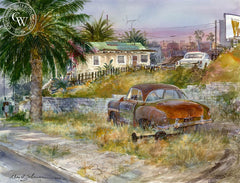 Eastern Turf, California art by David Solomon. HD giclee art prints for sale at CaliforniaWatercolor.com - original California paintings, & premium giclee prints for sale