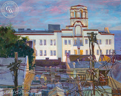 Hotel Laguna, California art by David Solomon. HD giclee art prints for sale at CaliforniaWatercolor.com - original California paintings, & premium giclee prints for sale