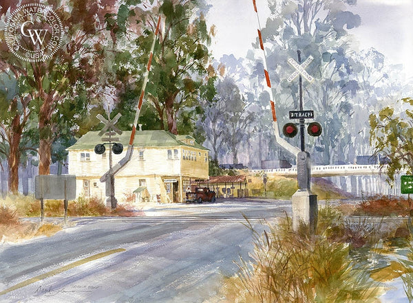 Irvine Store, California art by David Solomon. HD giclee art prints for sale at CaliforniaWatercolor.com - original California paintings, & premium giclee prints for sale