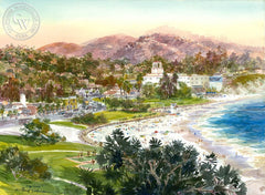 Lag Town, California art by David Solomon. HD giclee art prints for sale at CaliforniaWatercolor.com - original California paintings, & premium giclee prints for sale