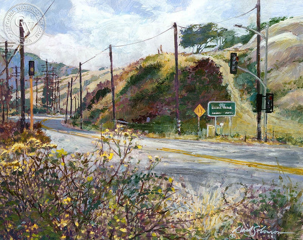 Laguna Canyon, California art by David Solomon. HD giclee art prints for sale at CaliforniaWatercolor.com - original California paintings, & premium giclee prints for sale