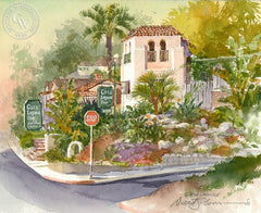 Casa Laguna Inn, California art by David Solomon. HD giclee art prints for sale at CaliforniaWatercolor.com - original California paintings, & premium giclee prints for sale