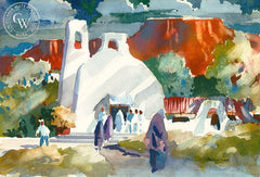 Don O'Neill - Gathering in the Desert, California art, original California watercolor art for sale - CaliforniaWatercolor.com