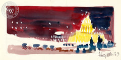 Berlin, 1963, from the movie Circus World starring John Wayne, California art by Dong Kingman. HD giclee art prints for sale at CaliforniaWatercolor.com - original California paintings, & premium giclee prints for sale