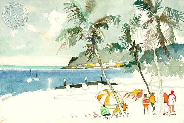Bocal, Honolulu, 1973, California watercolor art by Dong Kingman. HD giclee art prints for sale at CaliforniaWatercolor.com - original California paintings, & premium giclee prints for sale