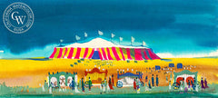 Circus Tent, 1963, from the movie Circus World starring John Wayne, California art by Dong Kingman. HD giclee art prints for sale at CaliforniaWatercolor.com - original California paintings, & premium giclee prints for sale
