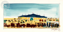 Circus Valley, 1963, from the movie Circus World starring John Wayne, California art by Dong Kingman. HD giclee art prints for sale at CaliforniaWatercolor.com - original California paintings, & premium giclee prints for sale