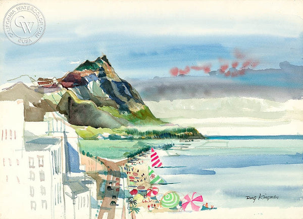 Hawaii, c. 1974, California art by Dong Kingman. HD giclee art prints for sale at CaliforniaWatercolor.com - original California paintings, & premium giclee prints for sale