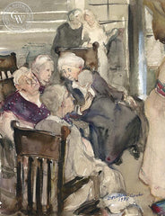 Gossip Session, 1938, California art by Dorothea Cooke (Gramatky). HD giclee art prints for sale at CaliforniaWatercolor.com - original California paintings, & premium giclee prints for sale