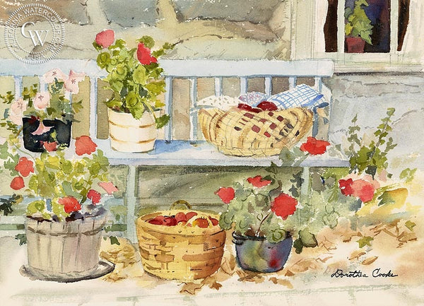 Summer's Bounty, 1982, California art by Dorothea Cooke (Gramatky). HD giclee art prints for sale at CaliforniaWatercolor.com - original California paintings, & premium giclee prints for sale