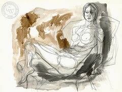 Figurative Nude #10, art by Duval Eliot, California artist, Californiawatercolor.com