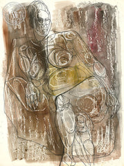 Figurative Nude #20, art by Duval Eliot, California artist, Californiawatercolor.com