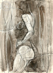 Figurative Nude #23, art by Duval Eliot, California artist, Californiawatercolor.com