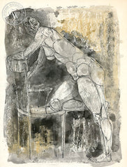 Figurative Nude #3, art by Duval Eliot, California artist, Californiawatercolor.com