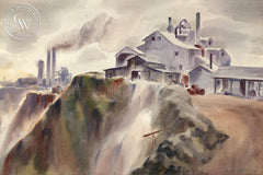 Los Angeles, 1939, art by Duval Eliot, California artist, Californiawatercolor.com
