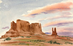 Navajo Country, 1949, art by Duval Eliot, California artist, Californiawatercolor.com