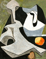 Still Life Abstract in Black and Gray, art by Duval Eliot, California artist, Californiawatercolor.com