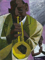 The Musician, art by Duval Eliot, California artist, Californiawatercolor.com