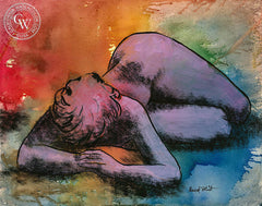 Watercolor Nude, 1960s, art by Duval Eliot, California artist, Californiawatercolor.com