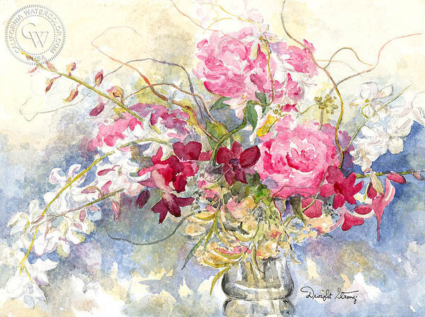 Dwight Strong - Flower Boquet, California artist. Original watercolor art for sale, giclee art print for sale - californiawatercolor.com