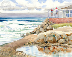 A New Coat, California art by Ed Kelly. HD giclee art prints for sale at CaliforniaWatercolor.com - original California paintings, & premium giclee prints for sale